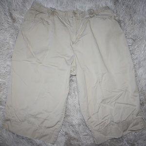 Size 14 White Stag Stretch Khaki Capri